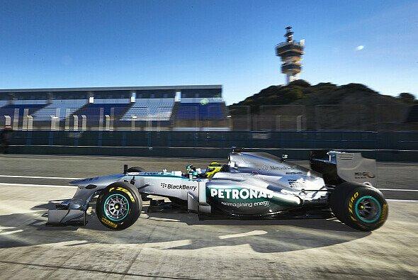 Nico Rosberg fährt den neuen Mercedes-Boliden