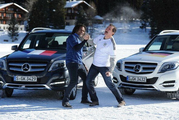 Duell on ice: Andreas Möller vs. Christian Karembeu
