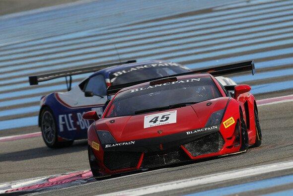 Der Lamborghini Gallardo GT3 FL2 bei Testfahrten in Le Castellet