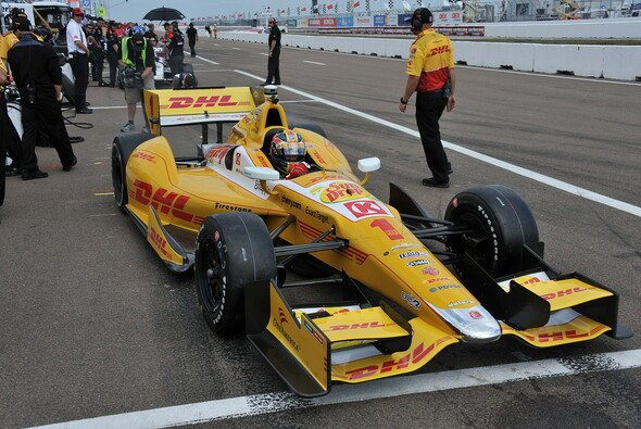 Ryan Hunter-Reay startet von der Pole Position