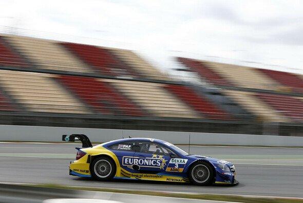 Gary Paffett pilotierte sein Mercedes C-Coupé am flottesten um den Circuit de Catalunya - Foto: Mercedes-Benz