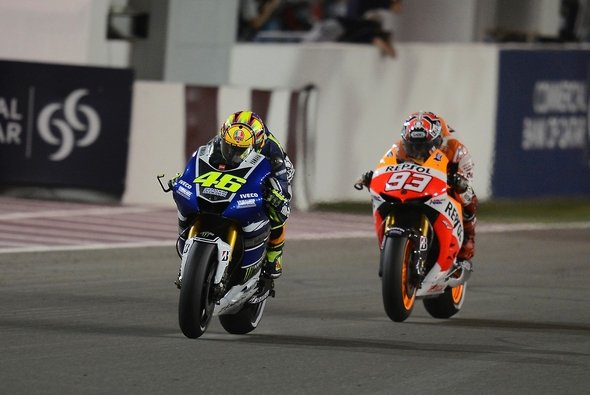 Valentino Rossi bezwang 2013 Marc Marquez und Co. im Zweikampf - Foto: Yamaha Factory Racing