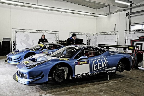 Die Ferrari von GT Corse blieben am Samstag in der Box