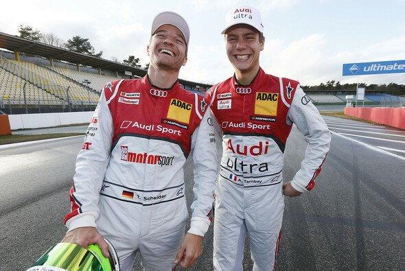 Die Stimmung beim Audi Sport Team Abt ist schon einmal gut - nun sollen auch Ergebnisse folgen - Foto: Audi