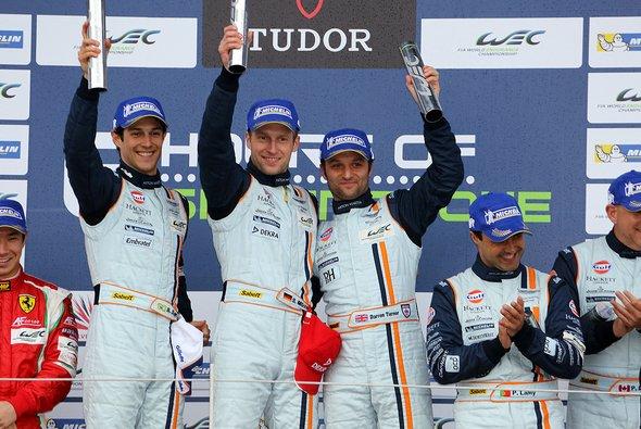Gemeinsam recht erfolgreich: Senna mit Turner und Mücke bei Aston Martin (hier 2013 in Silverstone)