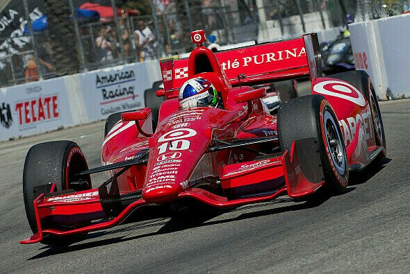 Dario Franchitti hatten einen heftigen Unfall in Houston