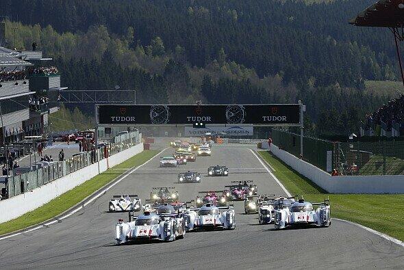 Der Start zum 6-Stunden-Rennen der WEC in Spa-Francorchamps 2013
