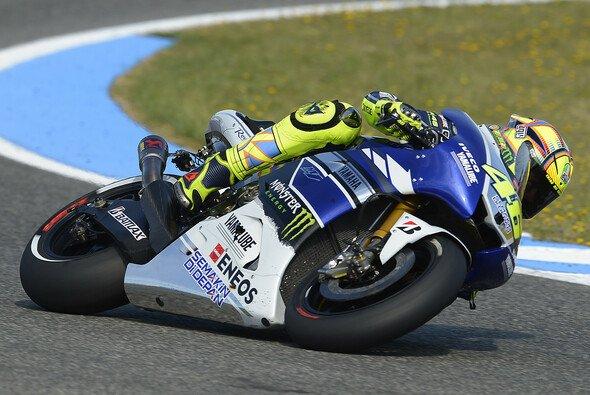 Valentino Rossi musste sich in Jerez mit Rang vier begnügen