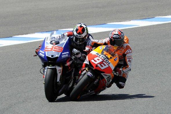 Im Vorjahr checkte Marquez Lorenzo in der letzten Kurve von der Strecke