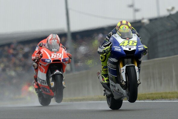 Die MotoGP fuhr zuletzt in Le Mans 2013 ein Rennen im Nassen