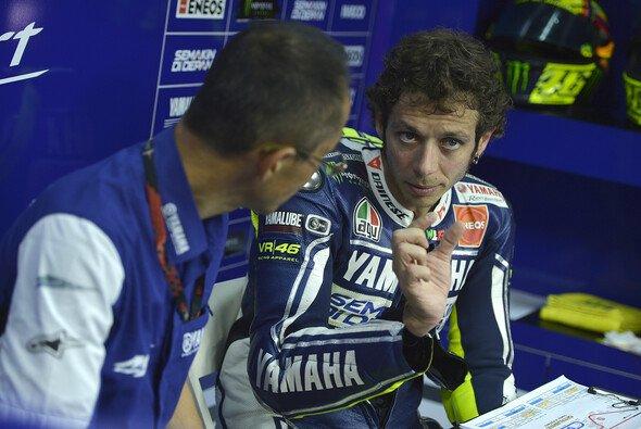 Valentino Rossi muss in den Anfangsphasen zulegen