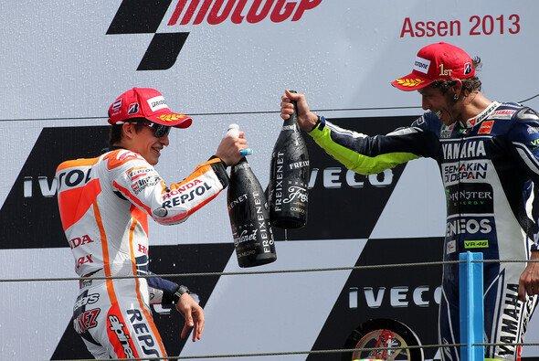 Marquez und Rossi: Stößt das Top-Duo wieder auf den Sieg an?
