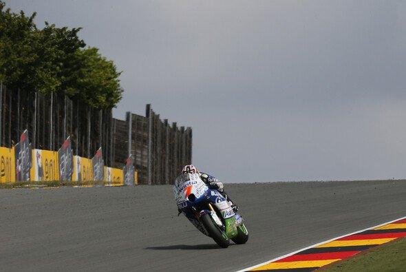 Hiroshi Aoyama belegte auf seiner FTR-Rennmaschine Platz 14 in Aragon.