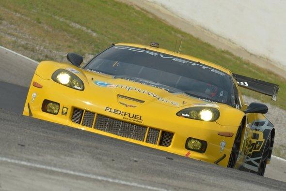 Die siegreiche Corvette auf dem ehemaligen Mosport International Raceway