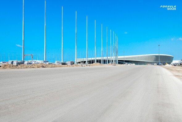 Die Bauarbeiten in Sochi laufen nach Plan