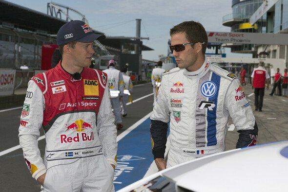 Mattias Ekström und Sebastien Ogier hatten sich eine Menge zu erzählen - Foto: Audi