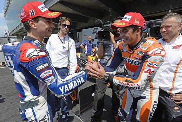Marquez und Lorenzo lieferten sich 2013 zahlreiche spektakuläre Duelle