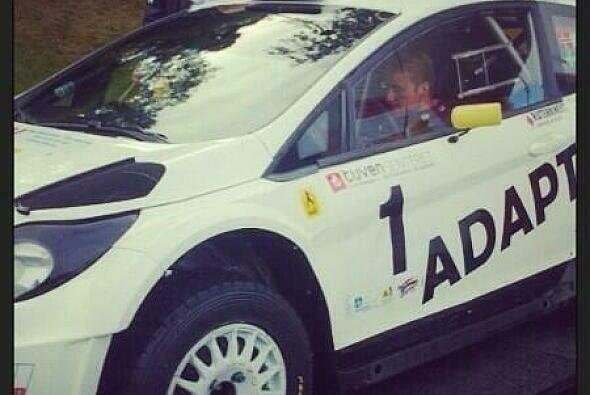 Mads Östberg ging in einem Ford Fiesta RS WRC für das Adapta Team an den Start