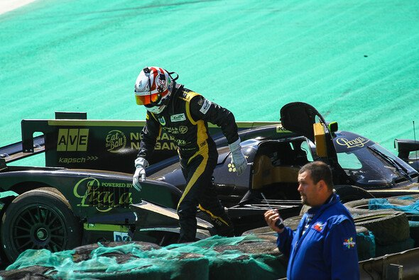 Dominik Kraihamer kurz nach seinem Abflug auf der Interlagos-Strecke