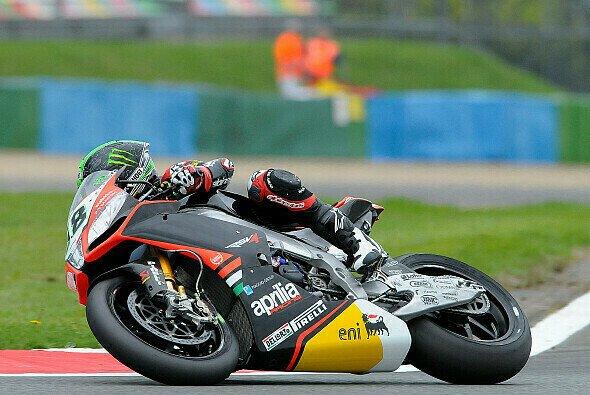 Eugene Laverty war mit P4 zufrieden - Foto: Aprilia Racing Team