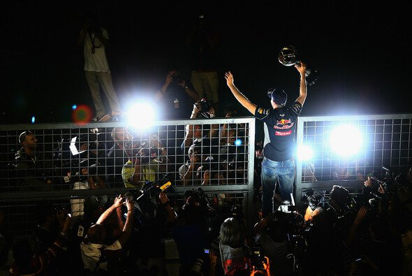 Sebastian Vettel erzielte in Indien seinen vierten Titelgewinn in Folge