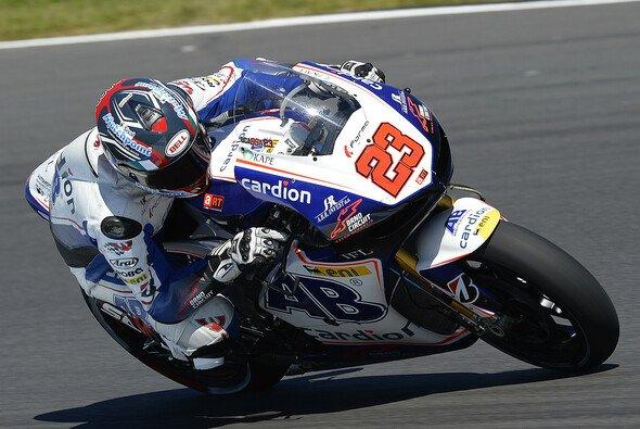 Luca Scassa war einer vor drei MotoGP-Piloten, die das Rennen nicht beenden konnten