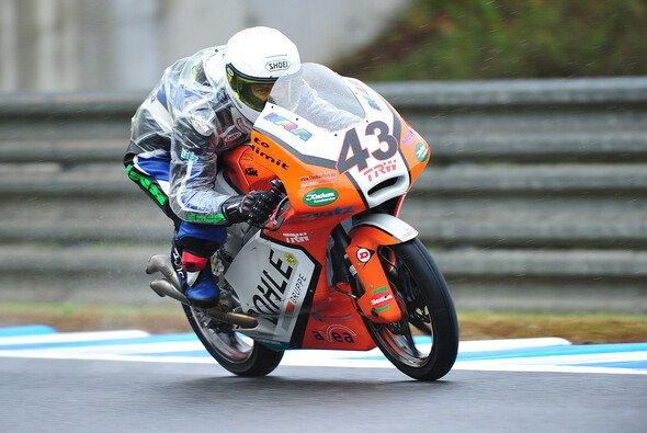 Luca Grünwald furh 2013 in Australien und Japan seine ersten Moto3-Rennen für Kiefer Racing.