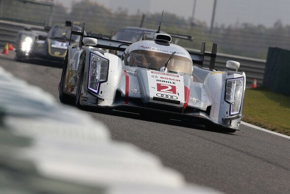 Die Weltmeister: Loic Duval, Tom Kristensen und Allan McNish im Audi R18 e-tron quattro