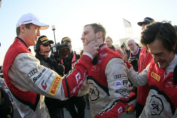 Großer Jubel bei Audi und dem Team WRT: Jungspund Vanthoor und Altmeister Ortelli sind die Champions