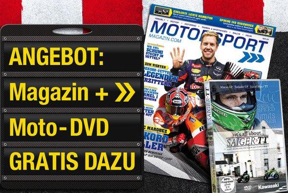 Hol dir das Motorsport-Magazin und eine Gratis-DVD - Foto: adrivo Sportpresse GmbH