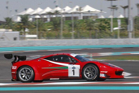 Ein AF-Corse-Ferrari im Rahmen der 12 Stunden von Dubai