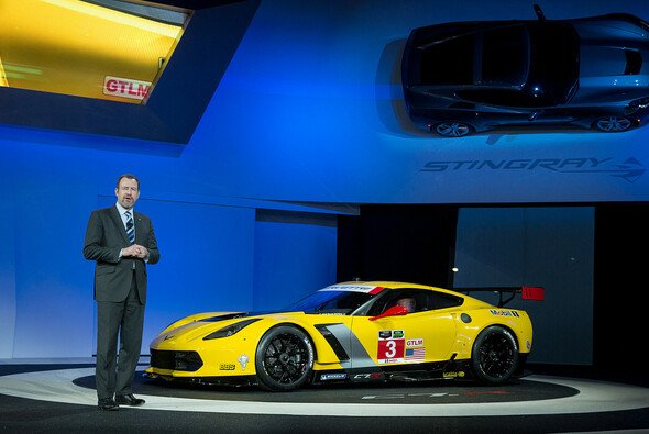 Die Präsentation der neuen Rennsport-Corvette auf der Detroit Auto Show