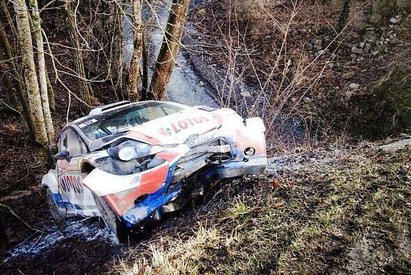 Für Robert Kubica ist die Rallye Monte Carlo beendet - Foto: Colin Clark/Twitter