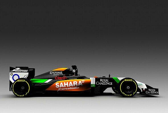 So sieht der VJM07 von Force India für die Saison 2014 aus