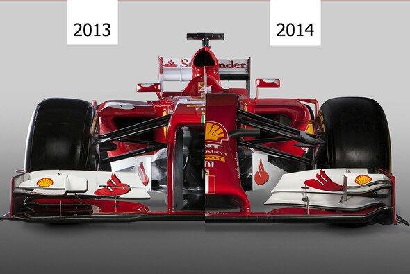 Beim Frontalvergleich wird deutlich: Hochnäsigkeit war einmal - Foto: Ferrari/adrivo