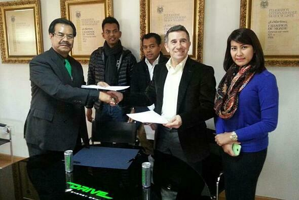 Aspars neuer Hauptsponsor wirbt mit dem malaysischen Energy-Drink Drive M7
