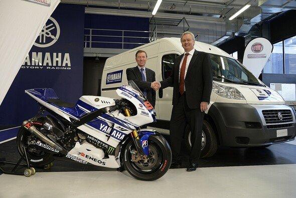 Yamaha präsentierte mit Fiat einen weiteren gewichtigen Sponsoring-Partner - Foto: Yamaha