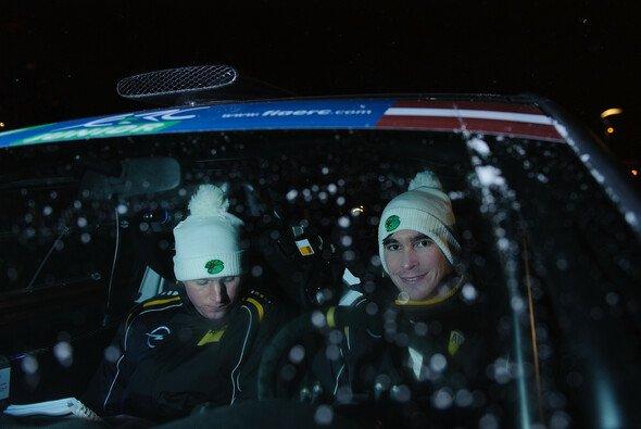 Marijan Griebel und Beifahrer Alexander Rath blieben bei ihrem Überschlag unverletzt