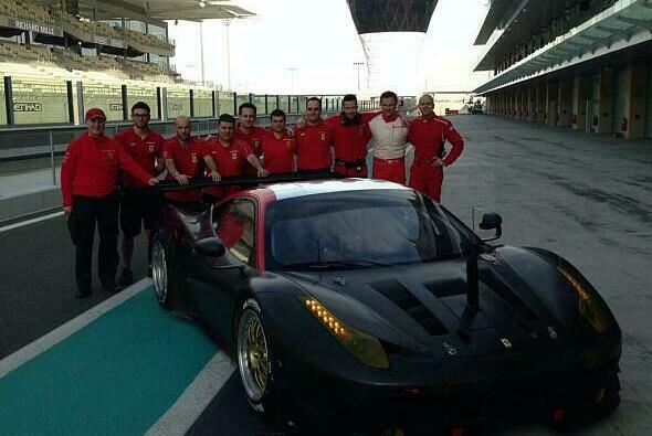 Toni Vilander twitterte dieses Foto von den Testfahrten