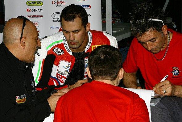 Claudio Corti verbrachte die meiste Zeit des Tests in der Box