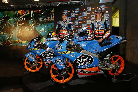 Alex Rins und Alex Marquez durften die Honda enthüllen