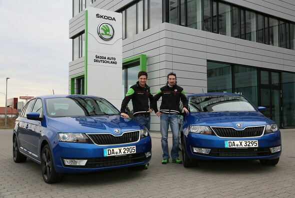Sepp Wiegand und Frank Christian sind Skoda-Werksfahrer