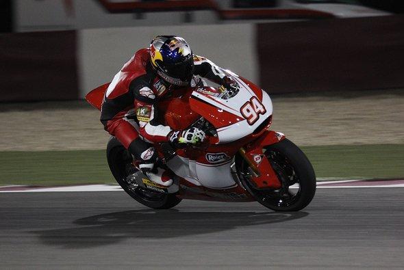Jonas Folger war mit seinem ersten Moto2-Rennen zufrieden