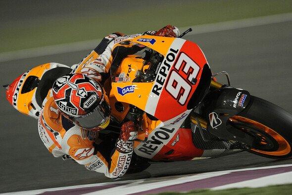 Marc Marquez blieb beim Saisonauftakt in Katar ganz cool