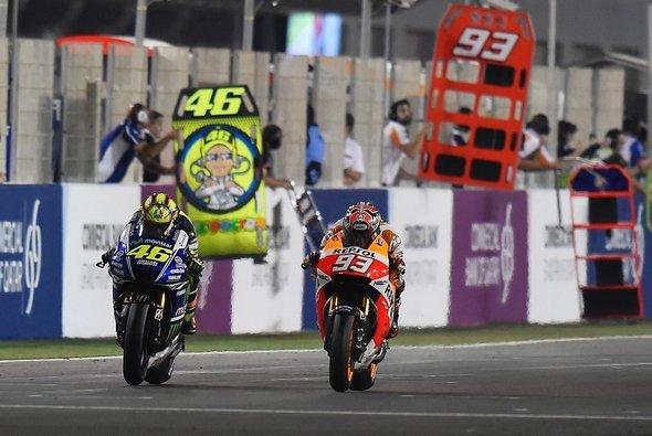 Marquez und Rossi sorgten beim Katar-GP für die Schlagzeilen