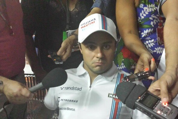Felipe Massa war ein gefragter Interviewpartner