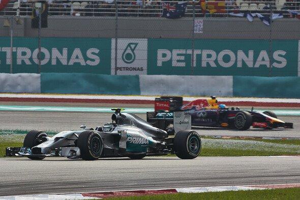 Die Mercedes-Piloten sahen Red Bull zuletzt nur im Rückspiegel