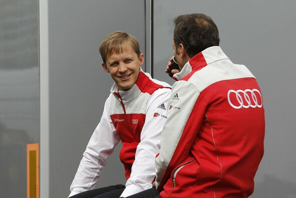 Mattias Ekström und sein Team arbeiten emsig