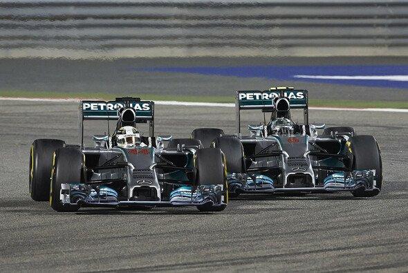 Wie in Bahrain könnte es auch in Shanghai zu einem Mercedes-Duell um den Sieg kommen