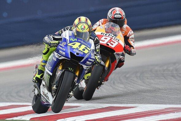 Rossi vor Marquez - das gab es nur im Training